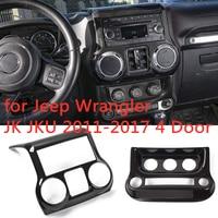 Carbon Fiber Interior Decoration Trim Kit,Trim for Jeep Wrangler JK JKU 2011 2017 4 Door (10PCS)