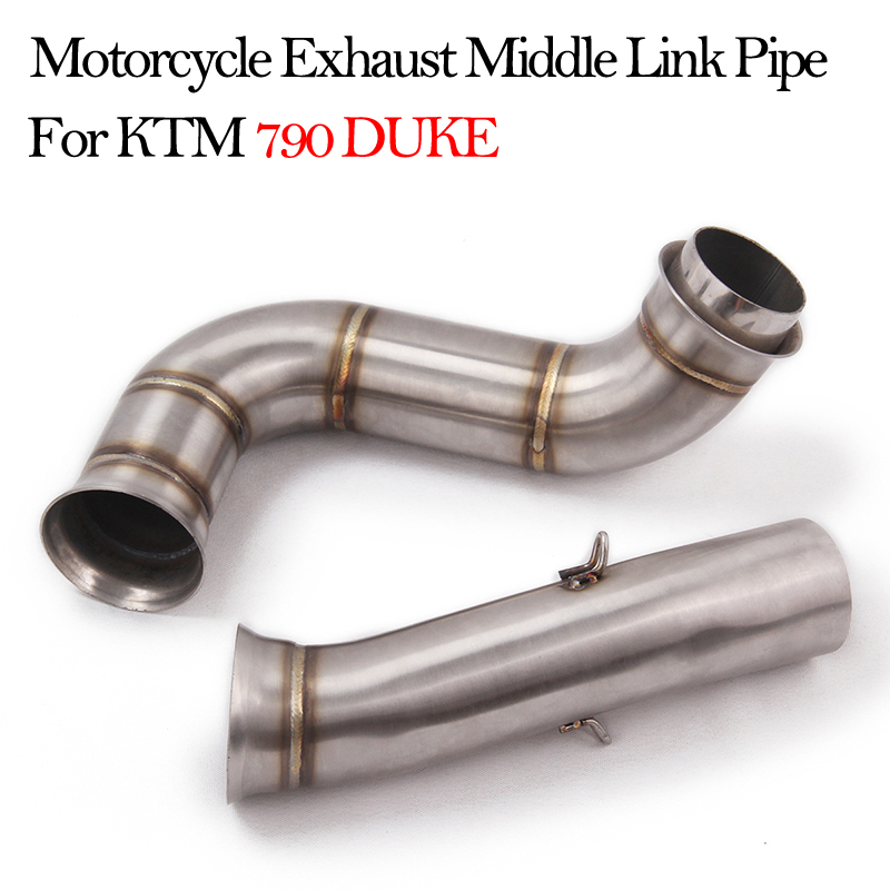 For KTM <font><b>DUKE</b></font> <font><b>790</b></font> ktm790 <font><b>duke</b></font> Middle Link Pipe Motorcycle <font><b>Exhaust</b></font> Pipe Modified Stainless Steel Moto Escape Mid Link Connect Pipe image