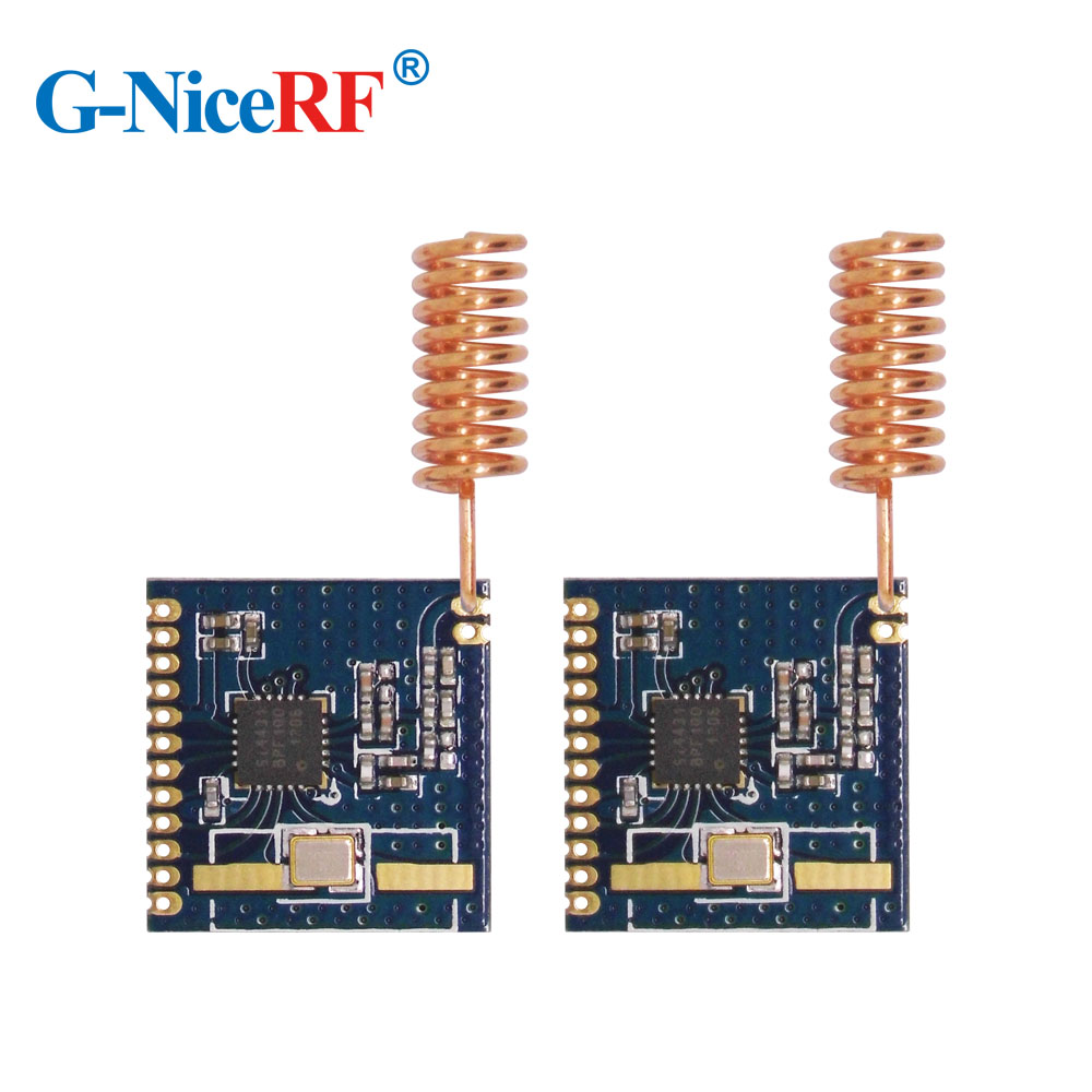 4pcs Highly Integrated Wireless +13 DBm Low Power Si4431 Chip FSK 868MHz Wireless Transceiver Module RF4431+ 4pcs Spring Antenna
