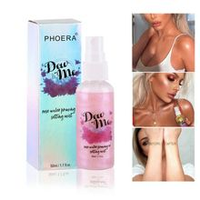 PHOERA Bronzer Highlighter Makeup Countour Liquid Setting Spray Illuminating Body Shimmer Face Highliter Rose Gold Cosmetics