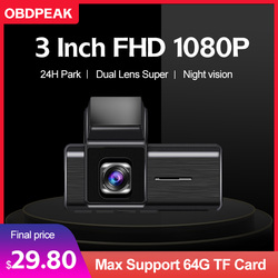 Mini Smart DVR Dash Camera Car Dvr FHD 1080P WDR G-Sensor Night Vision Large Wide Angle Video Recorder Dashcam Front and Rear