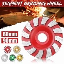 80mm/90mm Diamant Segment Schleifen Disc Schleif Beton Werkzeuge Grinder Rad Granit Stein Schneiden Schleifen Sah Rad tasse Klinge