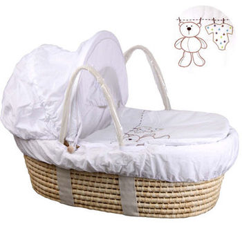 Corn woven Baby inner Foldable Baby Crib Portable Infant Bed with Mosquito Net Multifunctional Crib Travel Cradle Bed baby foldable crib travel portable newborn bed sleeping basket bassinet multifunctional portable baby crib with mosquito netting