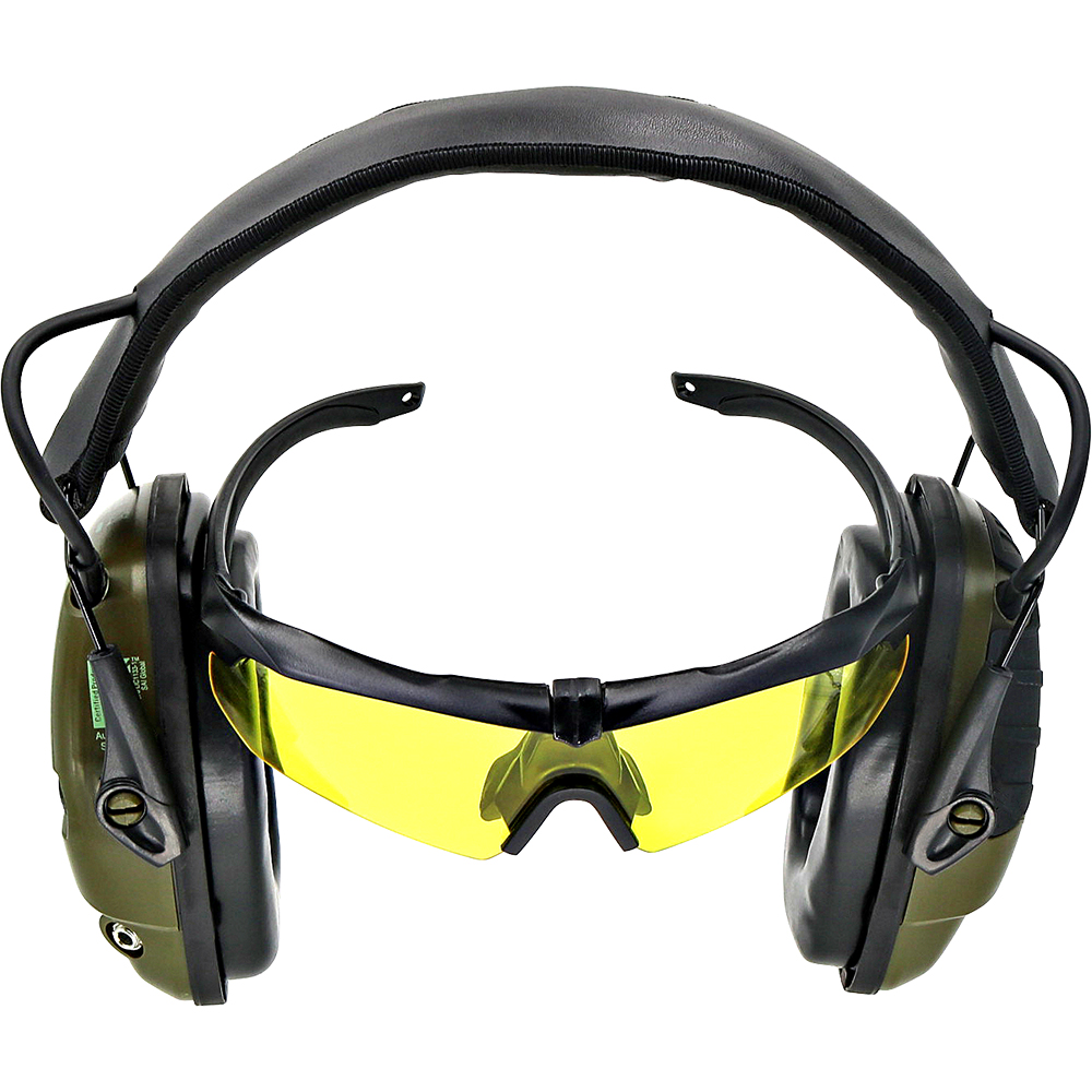 Tactical  Electronic Shooting Headphone Anti-Noise Amplification Hearing Protection Headset Specialized Eyeglasses Earmuffs FG