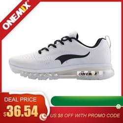 ONEMIX nowy 2020 oryginalny marka męskie buty do biegania na zewnątrz oddychające sneakersy z siatką buty sportowe czarne białe trampki men running shoes outdoor designer running shoesrunning shoes -
