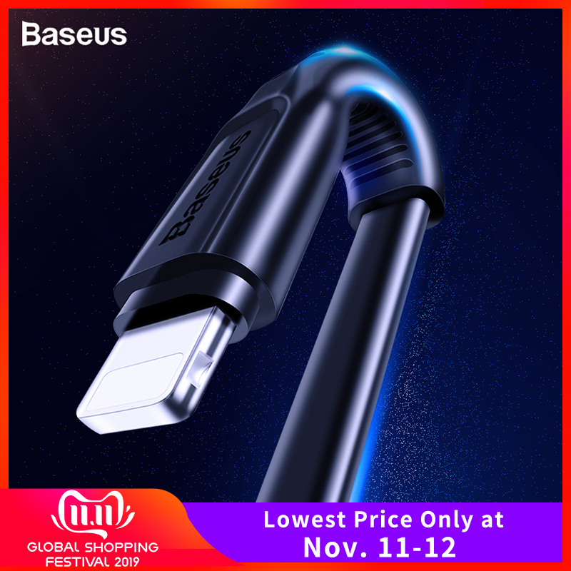 Baseus Flat USB Cable For iPhone XS Max XR X 8 7 6 6s Plus 5 5s se iPad Mini Fast Data Charging Charger Cord Mobile Phone Cable-in Mobile Phone Cables from Cellphones & Telecommunications on AliExpress - 11.11_Double 11_Singles' Day