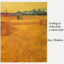 Van Gogh looked from the wheat field to Arles kraft poster room decoration bar restaurant decoration painting art wall sticker from field to fork