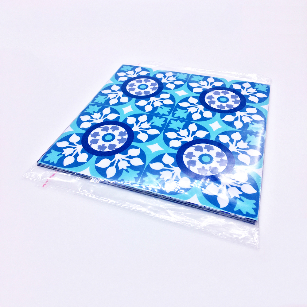 Купить с кэшбэком Funlife  CUSTOM 10/15/20/25/30cmPVC Waterproof Self adhesive Wallpaper Furniture  Mediterranean Tile Sticker Wall Decal TS002