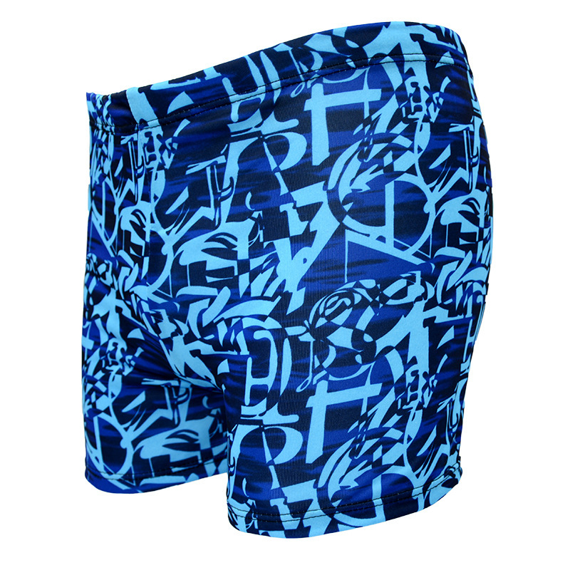 2019 New Style Fashion MEN'S Swimming Trunks Boxer Printed Qmilch Large Size MEN'S Swimming Trunks