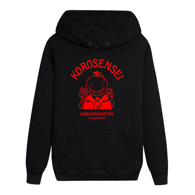 Hot Cartoon Assassination Classroom Long Sleeves Noctilucent Hoodies Casual Sweats Leisure Coat Pullover Hooded Tops image