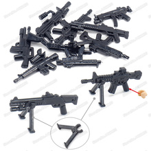 Military Figures Mini Weapons Building Block Assemble Army Heavy Machine Guns Set World War 2 Equipment Child Christmas Gift Toy