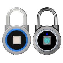 Keyless Bluetooth Smart-Fingerprint Lock Anti-Diebstahl APP Control Tür Vorhängeschloss X3UC