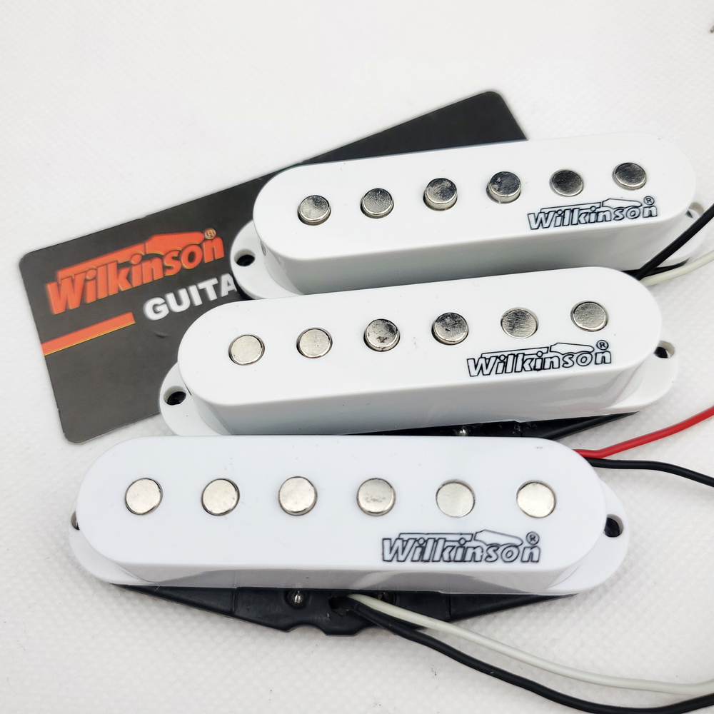 Wilkinson Electric Guitar Pickups Lic Vintage Single Coil Pickups For ST Guitar White 1 Set MWVSN/M/B
