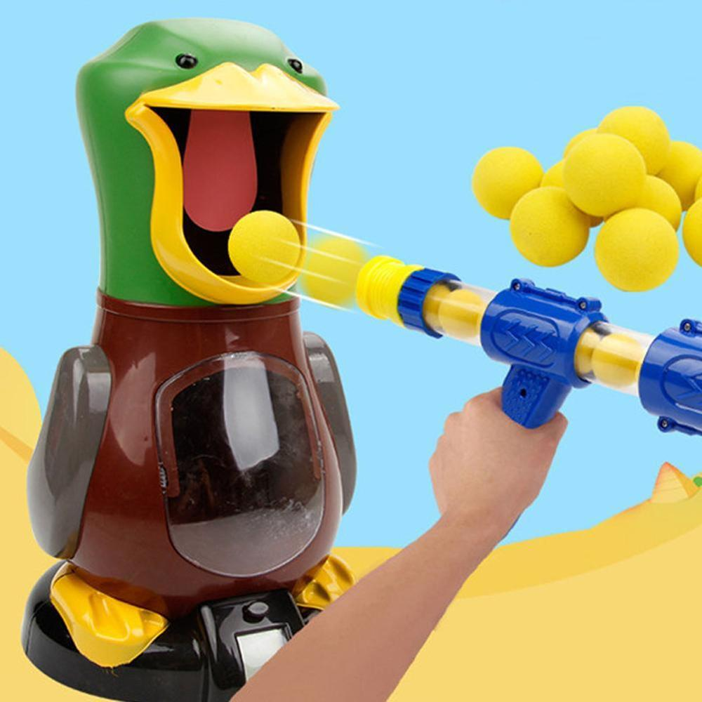 NEW Image Hungry Duck Interactive Target Shooting Game  EVA Foam Ball Novel Toys For Children Shooting Angry Lion Bear