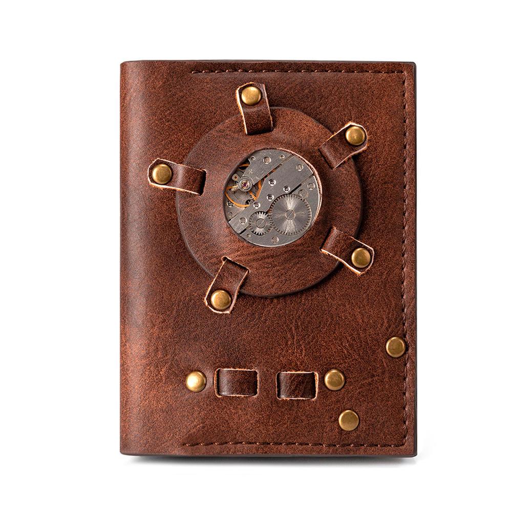 Steampunk retro coin purse female short wallet Industrial Revolution Copper Gearwheel wallet Halloween Punk Style Accessories