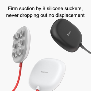 Image 5 - Baseus Suction Cup Wireless Charger For iPhone 11 Pro Wireless Charging Pad With Sucker Portable Qi Charger For Samsung S20 S10