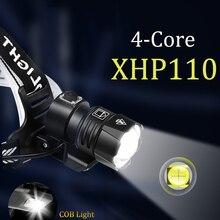 1000000LM XHP110 Powerful Lantern Headlamp XHP90.3 LED USB  Flashlight XHP50.2 Headlight Rechargeable18650 Zoom Head Torch Light