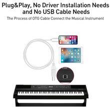 IOS13 תשלום כבל עבור iPad MIDI USB OTG סוג B מקלדת מתאם עבור IPhone 11 X XS MAX XR 8 7 6 חשמלי פסנתר אודיו מחבר