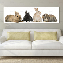 canvas animal painting rabbit Wall art Picture Unframed Prints Artwork for walls Modern Posters and Prints prints