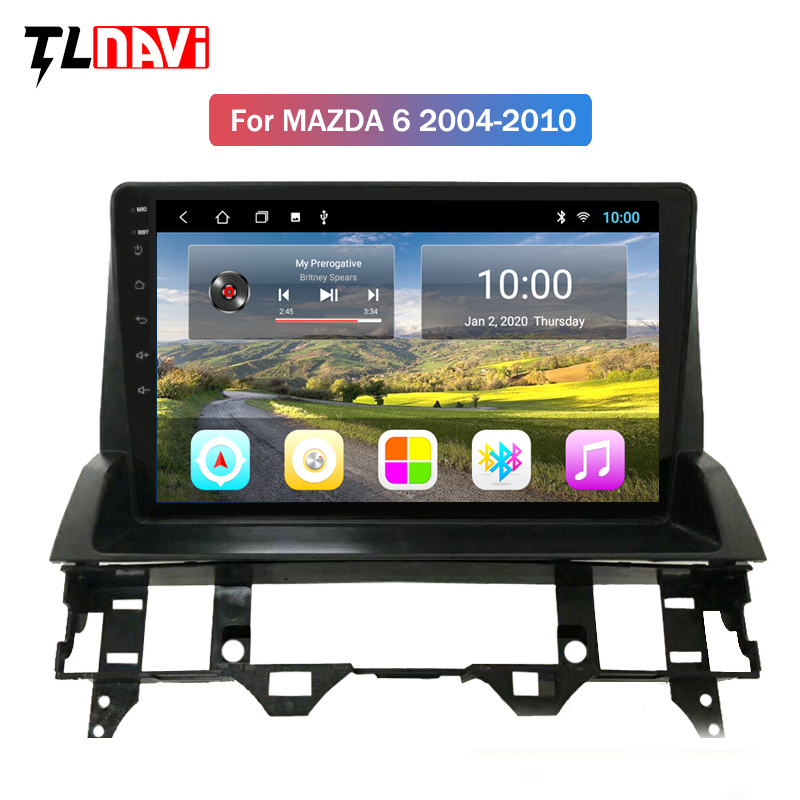 2G RAM 9 Inch Full Touch Android 9 HD Screen Car Gps Navigation Multimedia Radio Player For Mazda 6 2002-2008