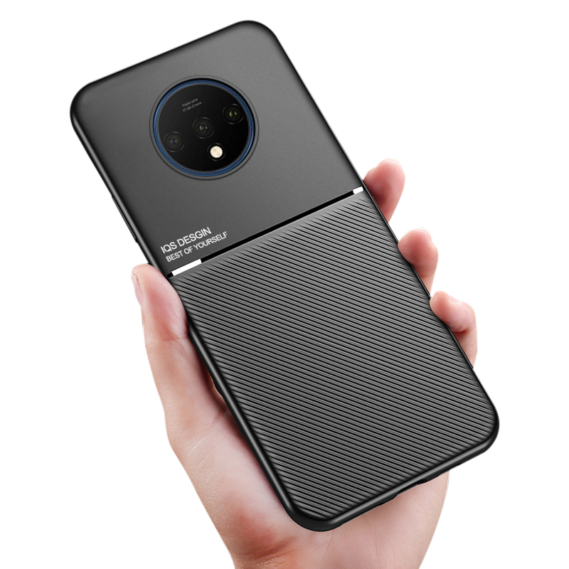 For Oneplus 7T Pro Case Business Carbon Fiber Silicone Magnetic Shockproof Cover For Oneplus 7 Pro For One Plus 7 T Pro Case