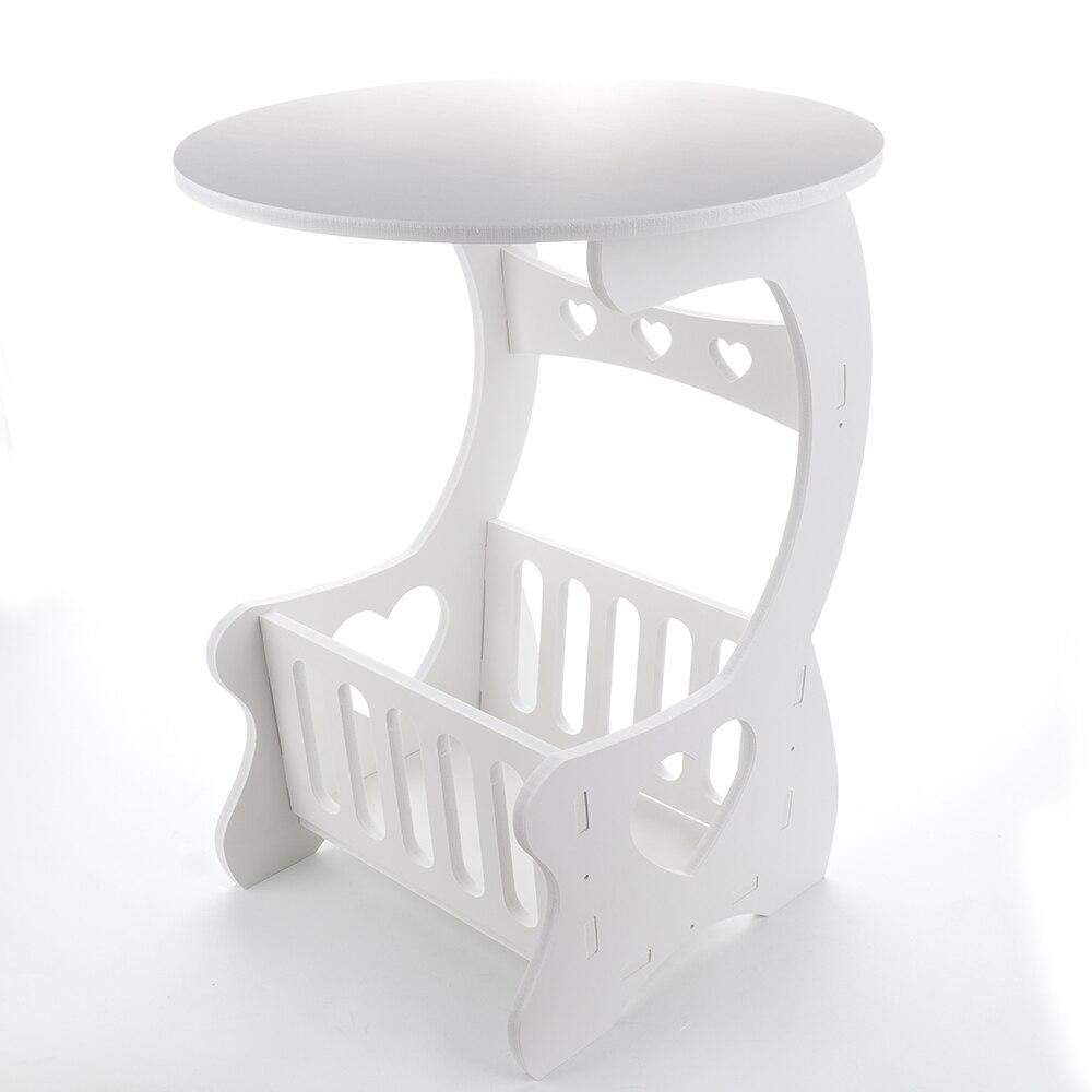 Image 2 - Estante de almacenamiento de madera multifunción, mesa de café, mesa de té, escritorio, almacenamiento de revistas, mesa, hueco tallado    -