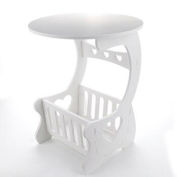 Multifonction En Bois étagère De Rangement Café Bureau Table Basse Table à Thé Bureau Loisirs Magazine Rack De Stockage Table Creuse Sculptée
