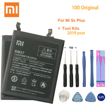 Xiao Mi BM37 For Xiaomi Mi 5s Plus International Version Cellphone Battery 3800mAh High Capacity PCB Lithium Polymer Battery original xiaomi bm37 mi 5s plus phone battery for xiaomi mi 5s plus 3800mah lithium polymer