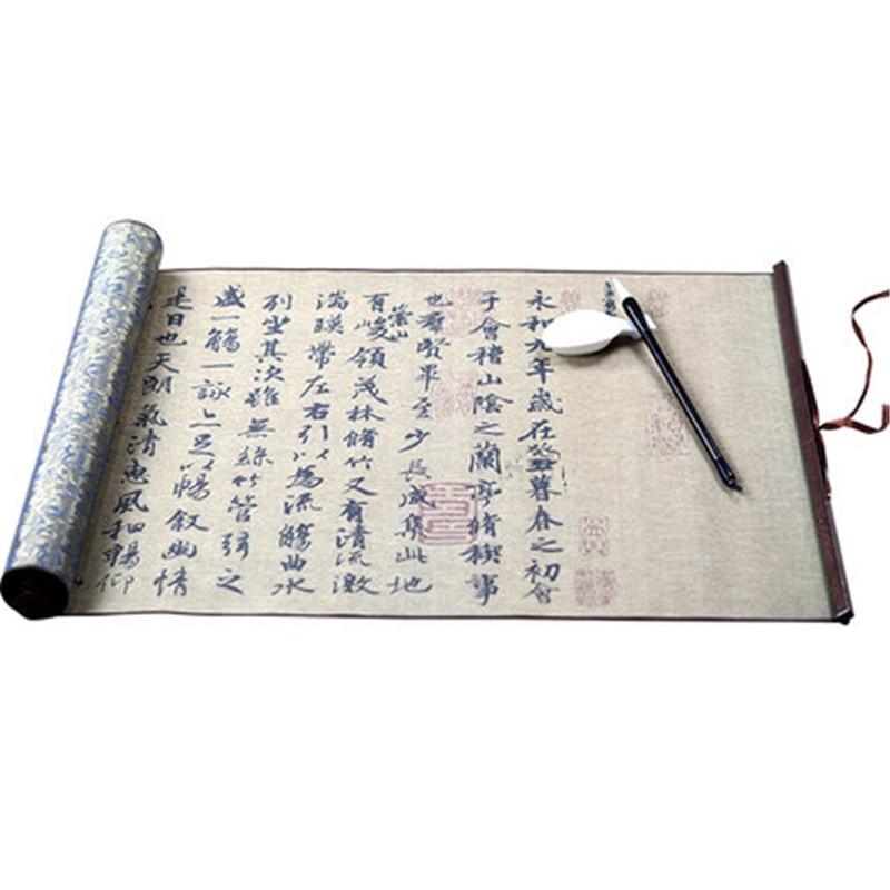Wang xi zhi Lan ting xu original monument water writing cloth calligraphy brush magic water book chinese calligraphy copybook