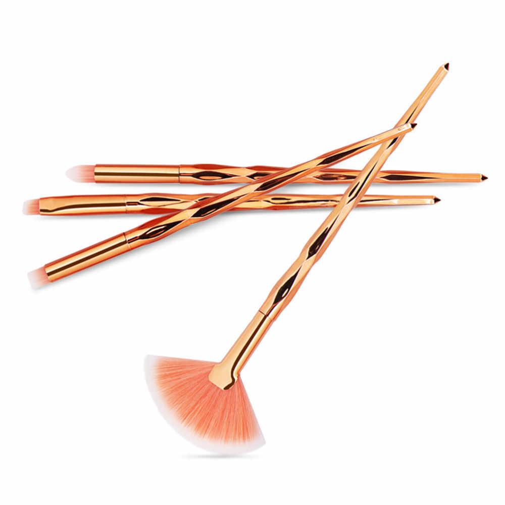 1/5/10 pièces pinceaux de maquillage ensemble fond de teint poisson forme visage ombre à paupières Eyeliner Blush lèvres correcteur pinceaux poudre cosmétiques outil # H