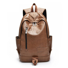New Pig Nose  Travel Backpack PU Leather Men 13 Inch Laptop Lady Korean Casual Computer
