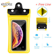 KISSCASE Swimming Bags Waterproof Bag Pouch Anti-lost Airbag Floating Underwater Phone Case Cover For iphone Huawei under 6 inch