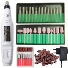 Perceuse à ongles électrique professionnelle pédicure manucure jeu de forets fraises ensemble lime à ongles 20000 tr / min équipement de polissage