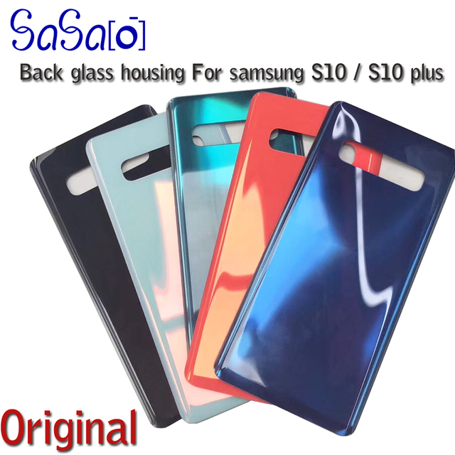 """10Pcs Back Glass Replacement For Samsung Galaxy S10 6.1"""" /S10 Plus S10+ 6.4"""" / S10E Battery Cover Rear Door Housing Case single"""