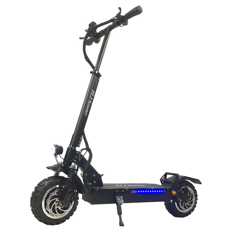 FLJ 11inch Off Road Electric Scooter Adult 60V 3200W Strong powerful new Foldable Electric Bicycle fold hoverboad bike scooters crash bar mt 09