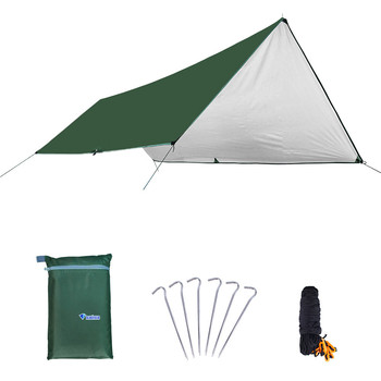 Outdoor Sunscreen Silver-plated Canopy Multifunction 420D Oxford Cloth Camping Awning Waterproof and Windproof Simple Beach Tent