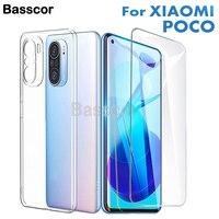 360 ° volle Abdeckung Original Luxus Ultra Thin Klar handyhülle Für Xiaomi Poco M3 F3 F2 X3 Pro NFC zurück Abdeckung Mit Screen Protector