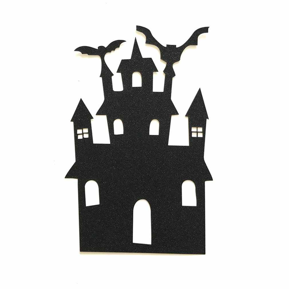 1pcs Halloween Castle Cake Topper Halloween Cupcakes Flag