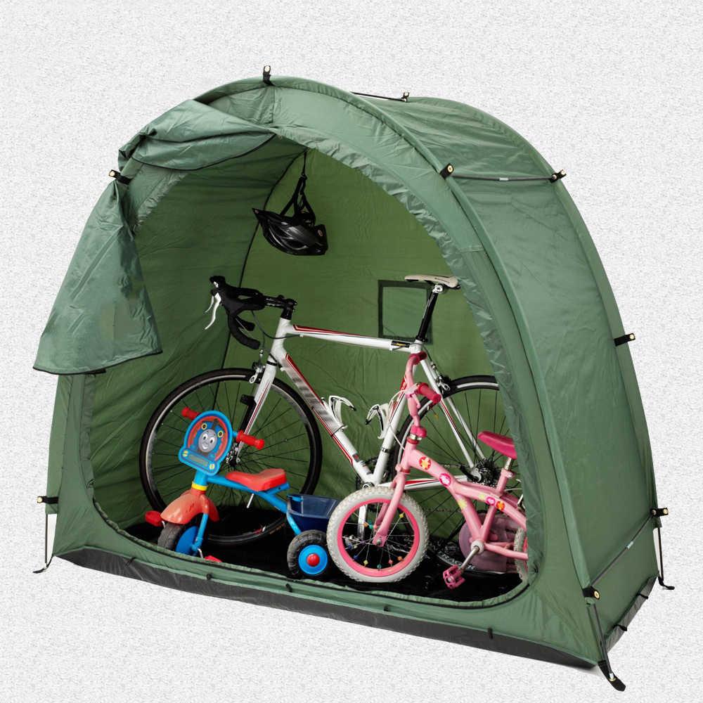 Vélo vélo tente étanche vélo stockage hangar 190T vélo stockage hangar avec fenêtre Design pour extérieur CampingTent 200*80*165cm