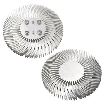 Radiador disipador de calor LED redondo de aluminio de 10W radiador de disipador de calor para lámpara de hogar reemplazable