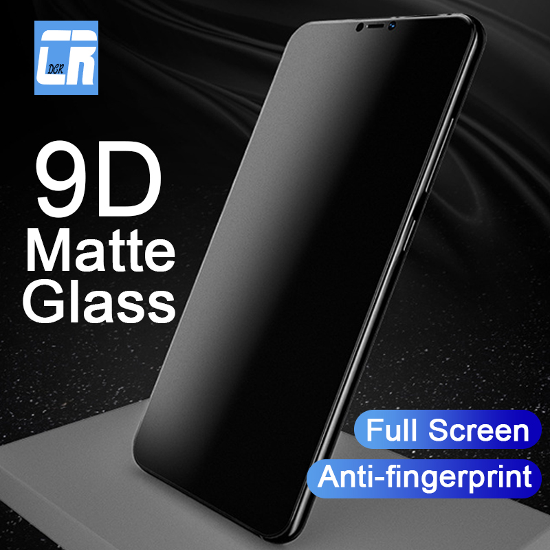 9D Frosted Screen Protector Tempered Glass For OPPO R15 R17 R11 R9S Matte Anti-fingerprint Protective Film For OPPO A9 A7 A5 A5S