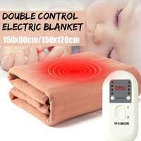 220V elektrikli battaniye isıtıcılar su geçirmez isıtma pedi çift vücut kış isıtıcı Mat yatak battaniyesi ısıtıcı 2 modu güvenlik yatak