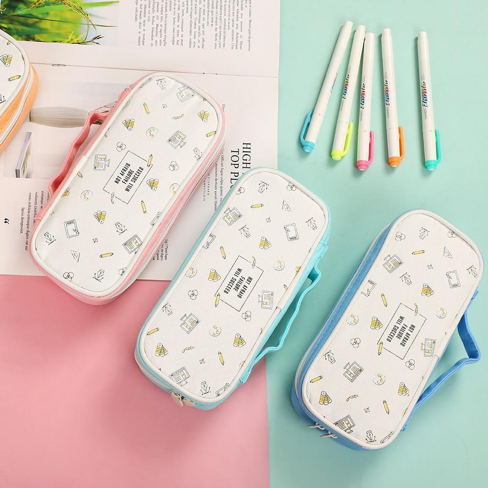 JIANWU Creative Portable Large-capacity Pencil Bag Fashion Multifunctional Simple Storage pencil case Kawaii School Supplies
