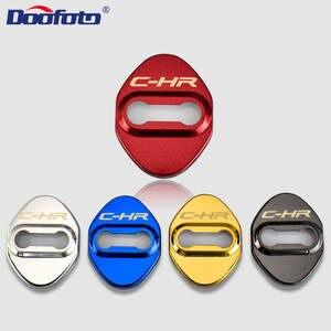 Doofoto Door-Lock-Cover Emblems Protective-Case Logo C-HR Toyota for 4pcs Car-Styling