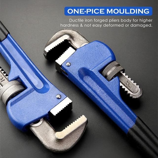 KALAIDUN Plumbing Pliers Pipe Wrench Industrial Heavy Duty Adjustable Anti-Corrosion Rust Large Open Spanner Plumber Repair Tool 2