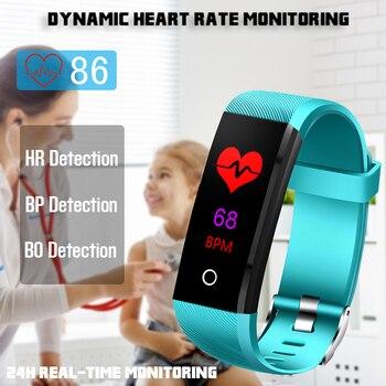 2019 חדש IP68 עמיד למים Smart Watch קצב לב בריאות צג לחץ דם פונקציה עבור אנדרואיד IOS כושר גשש שעון + תיבה