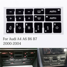 1 Pcs With 16Keys Car Air Condition AC Climate Control Button Repair Stickers Decals For Audi A4 B6 B7 2000 2001 2002 2003 2004