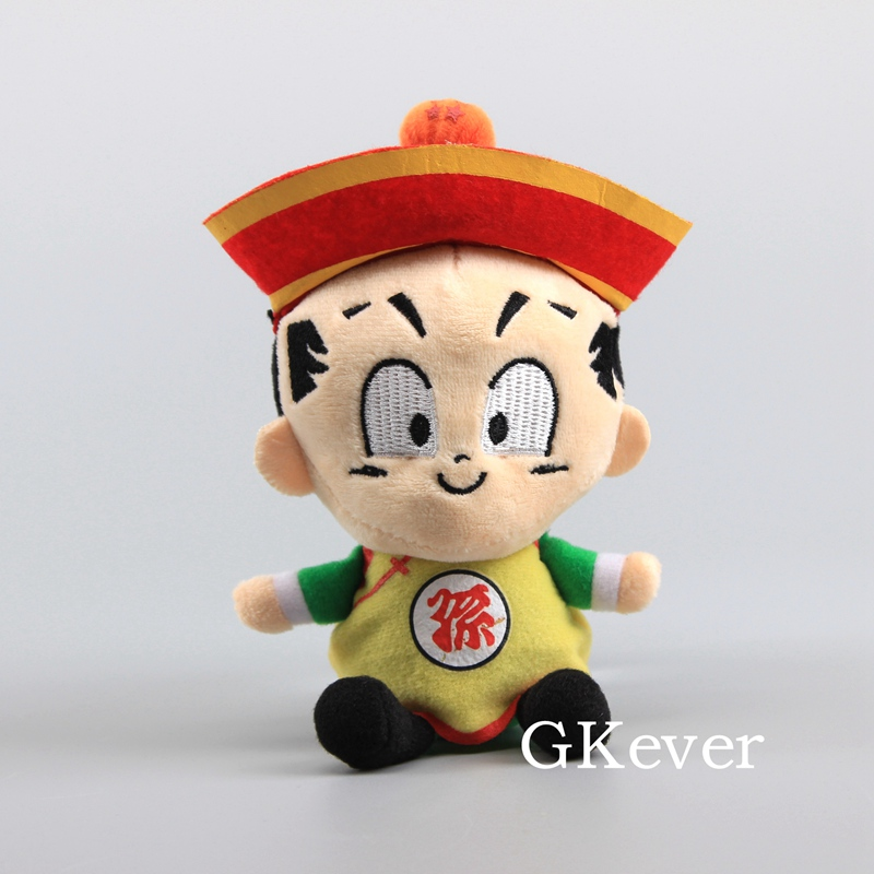 18cm Dragon Ball Goku Son Gohan Plush Toys Doll Stuffed Animals Toys Baby Kids Christmas Birthday Gift