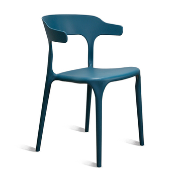 Plastic chair adult thick modern minimalist home dining chair horn chair nordic negotiation chair creative back chair