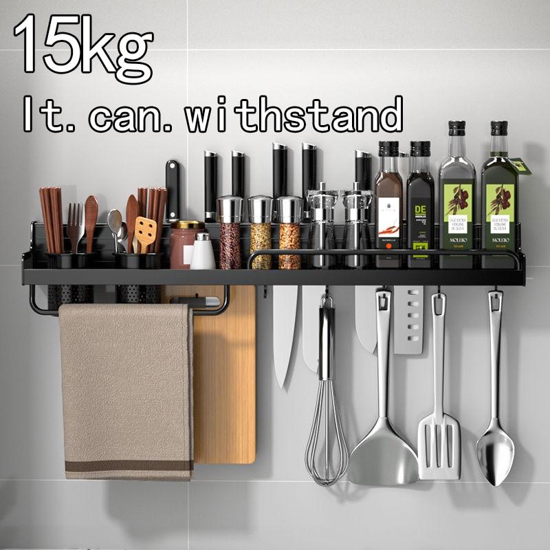 Kitchen storage shelf household products floor to floor multi-layer seasoning stainless steel artifact multi-function wall hangi